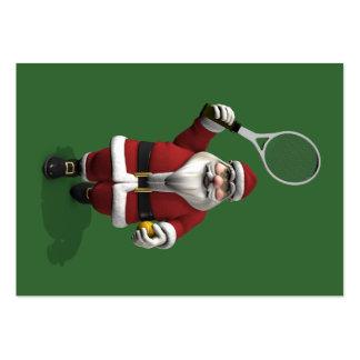 Papá Noel que juega a tenis Tarjetas De Visita Grandes