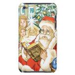 Papá Noel que lee la biblia el Nochebuena iPod Case-Mate Carcasas