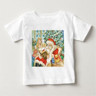 Papá Noel que lee la biblia el Nochebuena Tee Shirts
