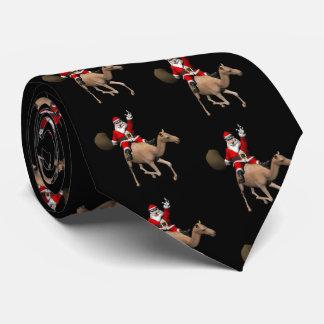 Papá Noel que monta un camello Corbatas Personalizadas
