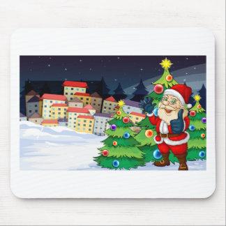 Papá Noel que se coloca al lado del ne de los Alfombrilla De Raton