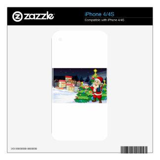 Papá Noel que se coloca al lado del ne de los Calcomanías Para iPhone 4S