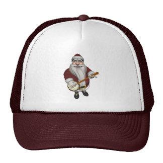 Papá Noel que toca el banjo Gorro