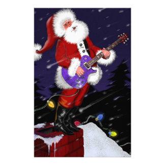 Papá Noel que toca la guitarra eléctrica Papeleria