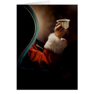 Papá Noel que toma una rotura el Nochebuena Tarjeton