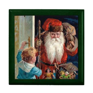 Papá Noel que visita a un muchacho Cajas De Regalo