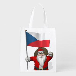 Papá Noel que visita la República Checa Bolsas Para La Compra