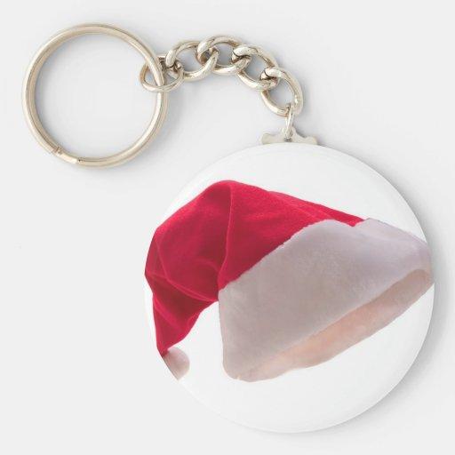 Papá Noel Red Hat Llavero Redondo Tipo Pin