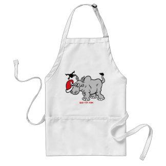Papá Noel resuelve un rinoceronte Delantal