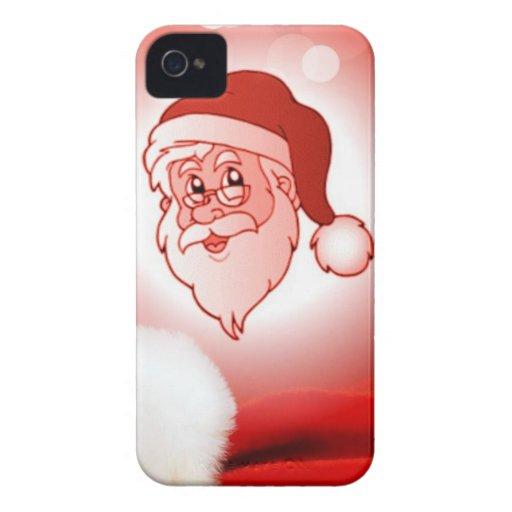 Papá Noel rojo Case-Mate iPhone 4 Cárcasa