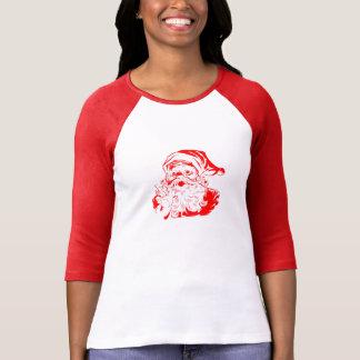 Papá Noel rojo y blanco del vintage Playera