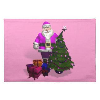 Papá Noel rosado Manteles Individuales