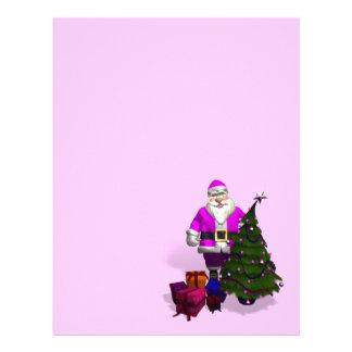 Papá Noel rosado Membretes Personalizados