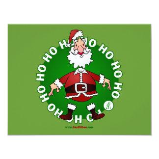 """Papá Noel salta 4 navidad Invitación 4.25"""" X 5.5"""""""