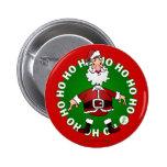 Papá Noel salta 4 navidad Pin