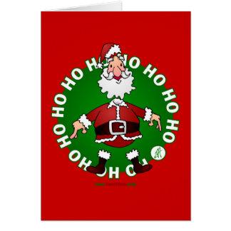 Papá Noel salta 4 navidad Tarjeta De Felicitación