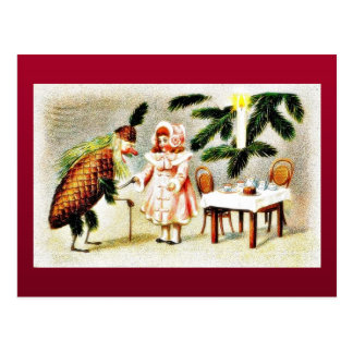 Papá Noel se vistió como la piña y desea un soldad Postal