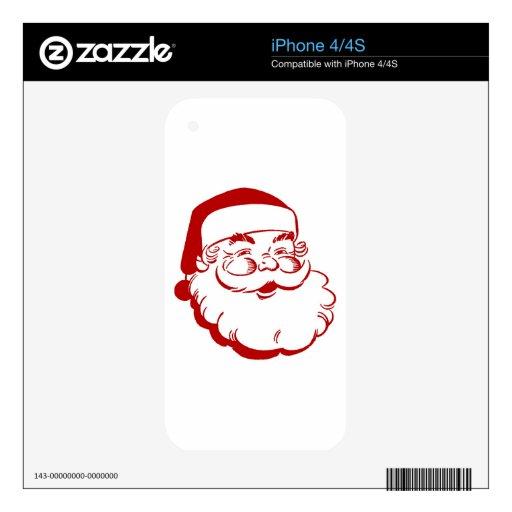 Papá Noel simple Calcomanía Para iPhone 4