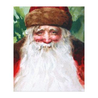 Papá Noel sonriente Impresión En Lienzo