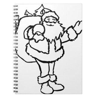 Papá Noel Spiral Notebook