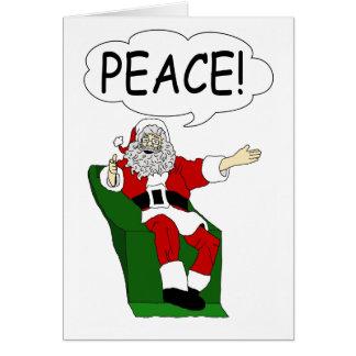Papá Noel: Tarjeta de felicitación de la paz