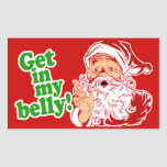 Papá Noel tiene hambre Pegatina Rectangular