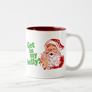 Papá Noel tiene hambre Taza Dos Tonos