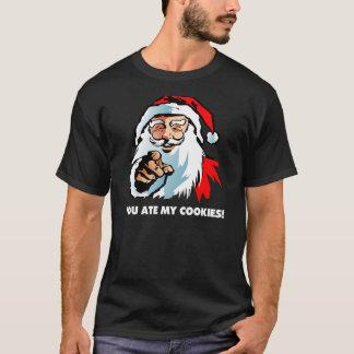 Papá Noel: Usted comió mis galletas Playera