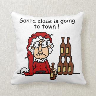 Papá Noel va a la ciudad Cojin