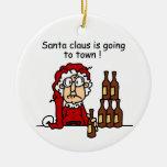Papá Noel va a la ciudad Ornamento Para Reyes Magos