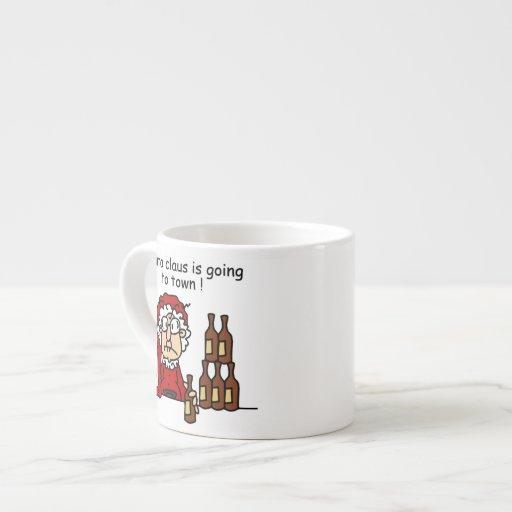 Papá Noel va a la ciudad Tazitas Espresso