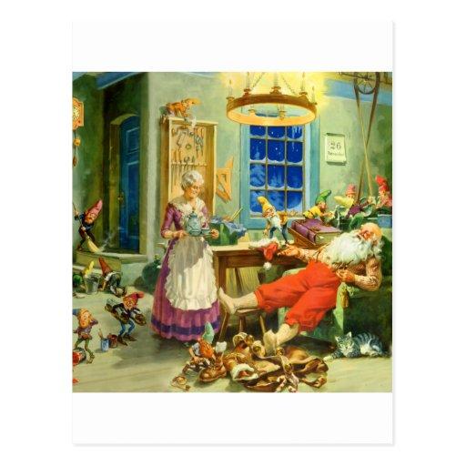 Papá Noel vuelve a casa al Polo Norte Tarjetas Postales
