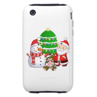 Papá Noel y amigos Tough iPhone 3 Funda