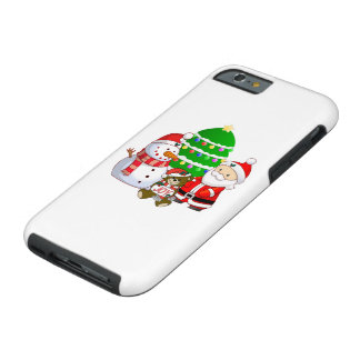 Papá Noel y amigos Funda De iPhone 6 Tough