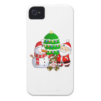 Papá Noel y amigos Case-Mate iPhone 4 Carcasas