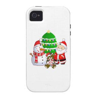 Papá Noel y amigos Vibe iPhone 4 Carcasa