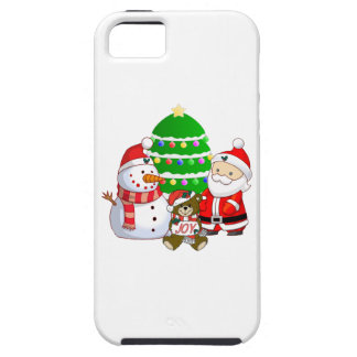 Papá Noel y amigos iPhone 5 Protectores