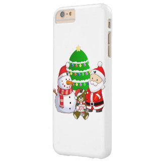 Papá Noel y amigos Funda De iPhone 6 Plus Barely There