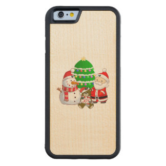 Papá Noel y amigos Funda De iPhone 6 Bumper Arce