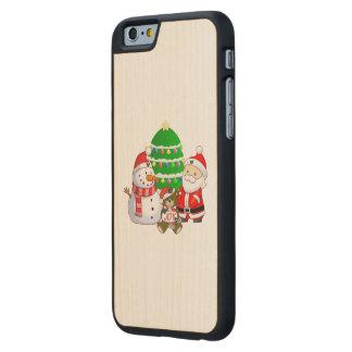 Papá Noel y amigos Funda De iPhone 6 Carved® De Arce
