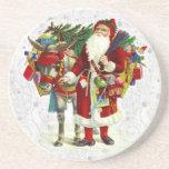 Papá Noel y burro Posavasos Personalizados