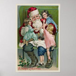"""""""Papá Noel y cuatro niños """" Impresiones"""