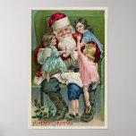 """""""Papá Noel y cuatro niños """" Póster"""