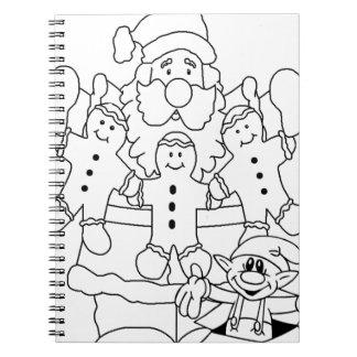 Papá Noel y duende Libretas