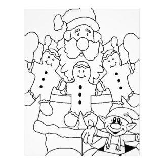 Papá Noel y duende Plantilla De Membrete