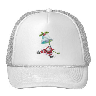 Papá Noel y gorra de Bell de navidad