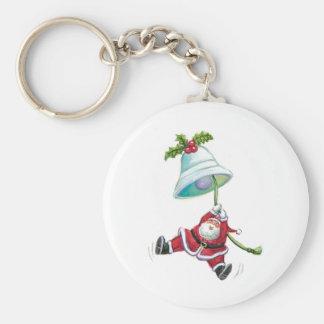 Papá Noel y llavero de Bell de navidad