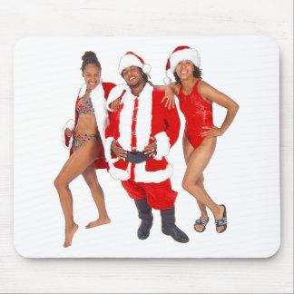 Papá Noel y mujeres Tapete De Ratón