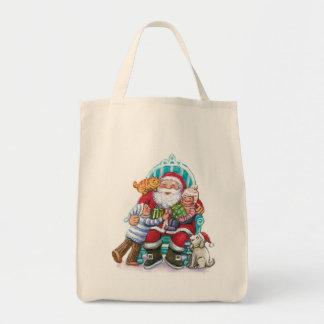 Papá Noel y niños gato perro Bolsas