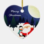 Papá Noel y ornamento lindos del navidad de los pi Adornos De Navidad